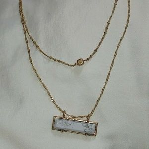 Layered Rectangular Pendant Necklace